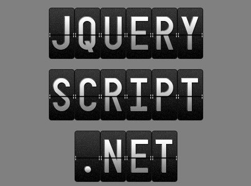 http://www.jqueryscript.net/text/Airport-Like-Text-Flip-Animation-with-jQuery-CSS3-splitFlap.html
