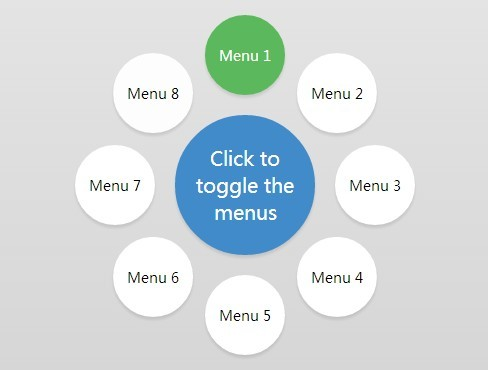 Animated Circle Menu with jQuery and CSS3