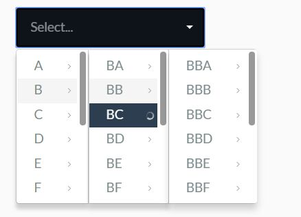 Dynamic Cascading Dropdown For Bootstrap - Cascader