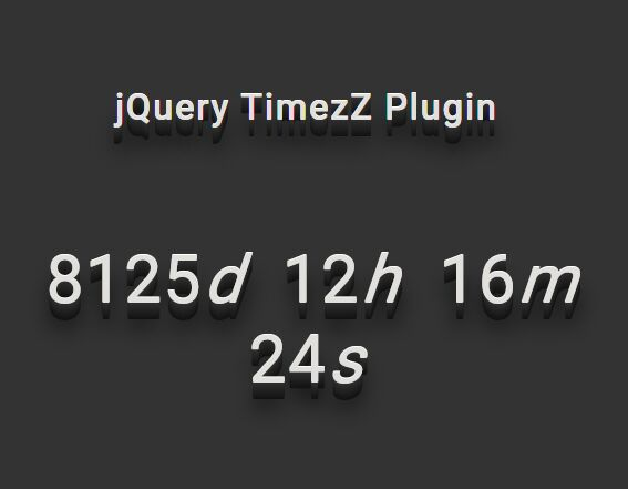 https://www.jqueryscript.net/time-clock/Counter-Timer-Plugin-jQuery-TimezZ.html