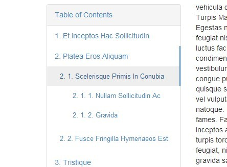 Highly Configurable jQuery Table of Contents Plugin - TocJS