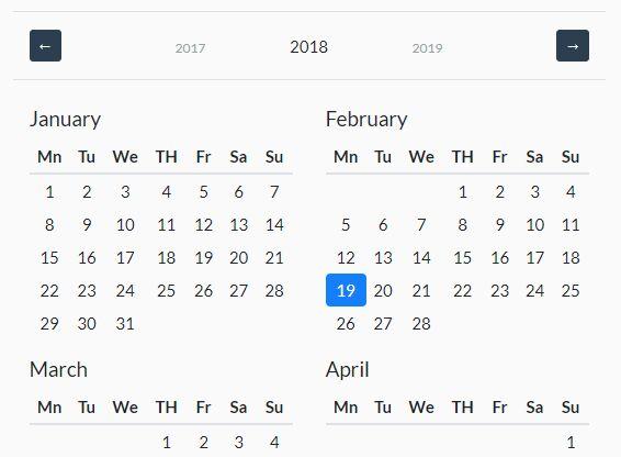 https://www.jqueryscript.net/time-clock/Year-Calendar-Bootstrap-4.html