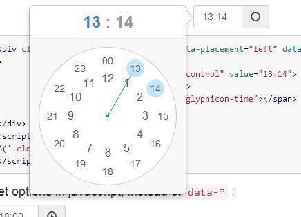 http://www.jqueryscript.net/time-clock/jQuery-Clock-Style-Time-Picker-Plugin-For-Bootstrap-3-clockpicker.html