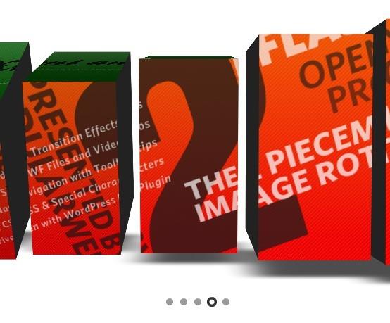 3D Flash Based Image Slideshow - Piecemaker2