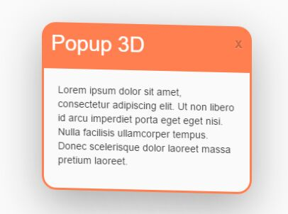 3D Interactive Popup Window With jQuery And CSS3 - 3D Popup