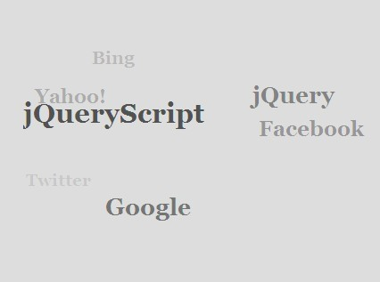 3D Sphere Tag Cloud Plugin with jQuery and CSS3 - TagSphere