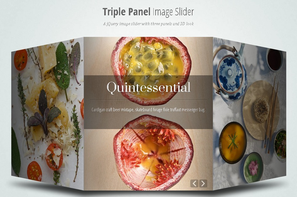 3D Triple Panel Image Slider Plugin with jQuery
