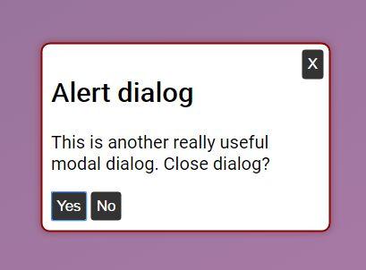 Accessible Modal/Alert Dialog Plugin With jQuery - aria-dialog