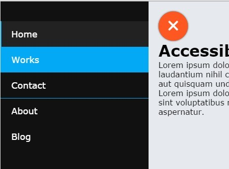 Accessible Off-canvas Push Menu with jQuery and CSS3