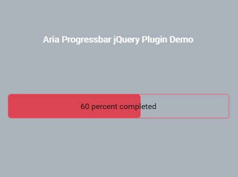 Minimal Accessible Progress Bar Plugin With jQuery - aria-progressbar