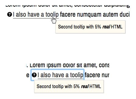 Accessible jQuery Tooltip Popup Plugin - tooltip