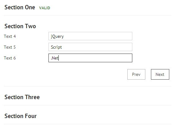 Accordion Slider Style jQuery Form Wizard Plugin - Formalize