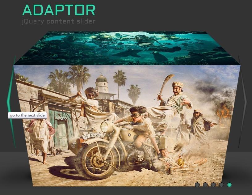 Adaptor - Cool 3D jQuery Content Slider Plugin