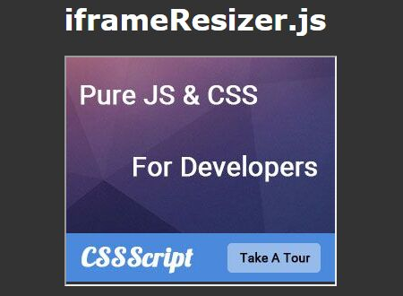 Responsive & Adpative iFrame Plugin For jQuery - iframeResizer.js