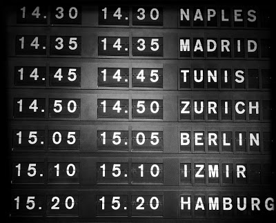 Airport Information Board Text Effect