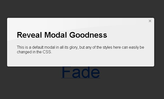 An Easy-To-Use jQuery Modals Plugin - Reveal