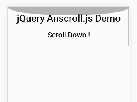 Android Style Overscroll Effect In jQuery - Anscroll.js