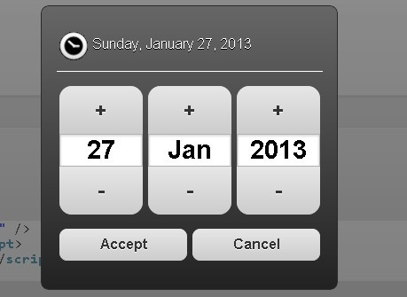Android-Style Date Picker For jQuery Mobile - Mobi Pick
