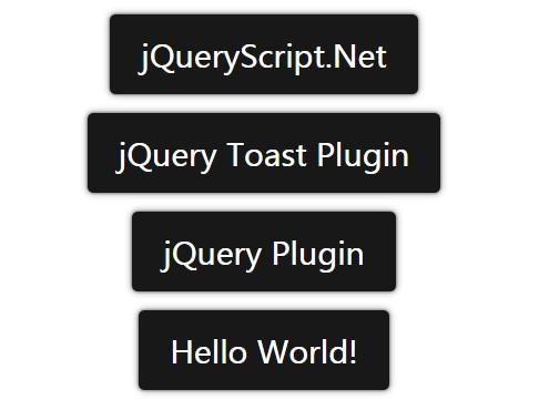 Android Toast-style jQuery Notification Plugin - dpToast