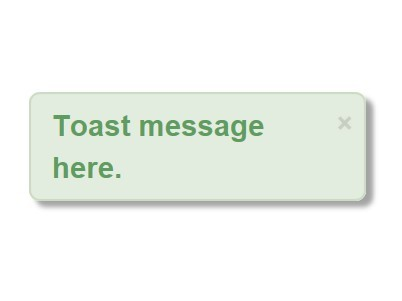 Android-style Simple jQuery Toast Plugin - eatoast