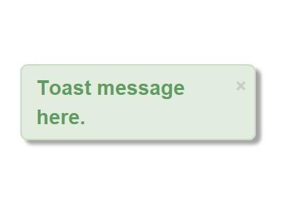 Android-style Simple jQuery Toast Plugin - eatoast