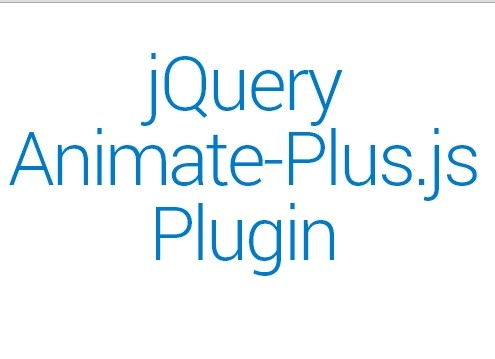 Animate Html Elements with jQuery and animate.css - Animate-Plus.js