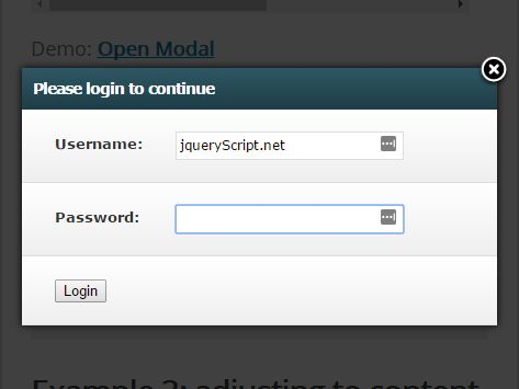 Animated AJAX-Enabled Modal Plugin With jQuery - Modal.js