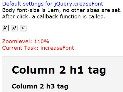 Animated & Accessible jQuery Font Size Resizing Plugin - Creasefont