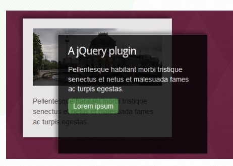 Animated Content Hover Effect with jQuery