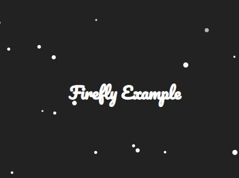Animated Firefly Effect In jQuery - Firefly.js
