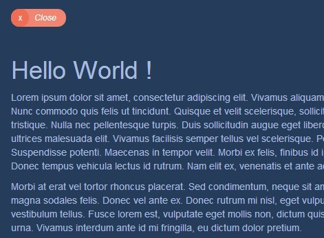Animated Fullscreen Modal Plugin with jQuery and CSS3 - Modalica