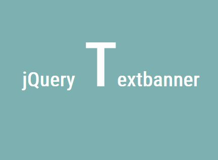 jQuery Plugin For Retro Animated Headline Text - Textbanner