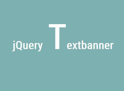 jQuery Plugin For Retro Animated Headline Text - Textbanner