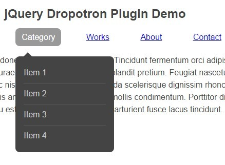 Animated Multi-level Dropdown Menu Plugin For jQuery - dropotron