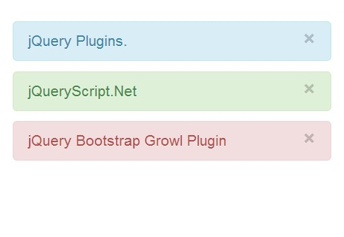 Animated Notification Plugin For jQuery and Bootstrap - Bootstrap Growl