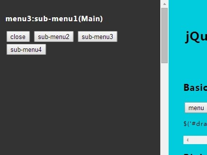 Animated Side Sliding Drawer Menu Plugin with jQuery - Drawer Menu