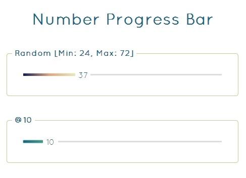 Animated Slim Progress Bar Plugin with jQuery - Number Progress Bar