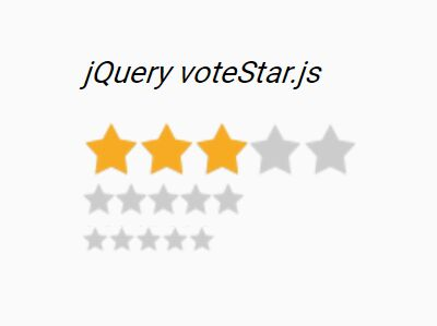 CSS3 Animated Star Rating Plugin For jQuery - voteStar.js
