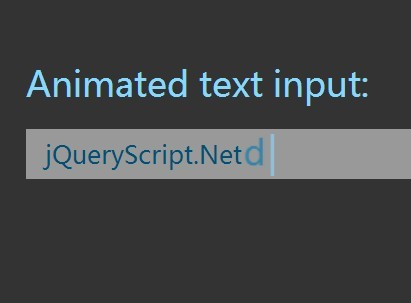 Animated Text Input With jQuery and CSS3 Transforms