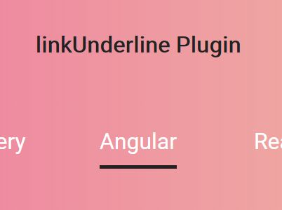 Create Animated Text Underlines With jQuery - linkUnderline