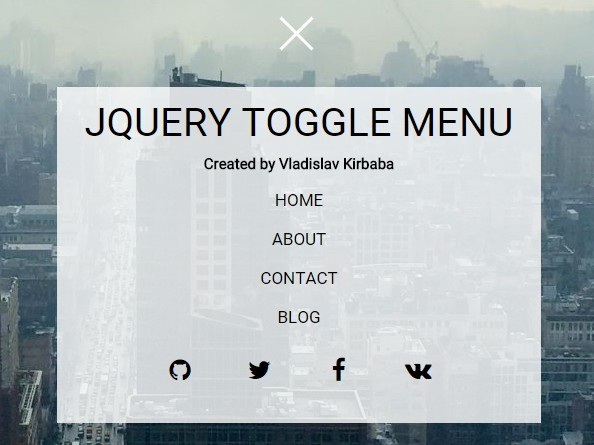 Animated Toggle Menu with jQuery and CSS / CSS3 | Free jQuery Plugins