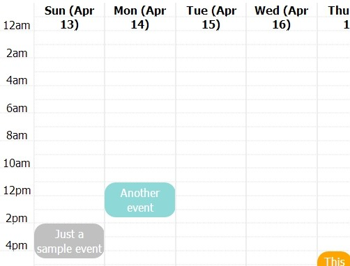 Animated jQuery Event Calendar Plugin - Pretty Calendar