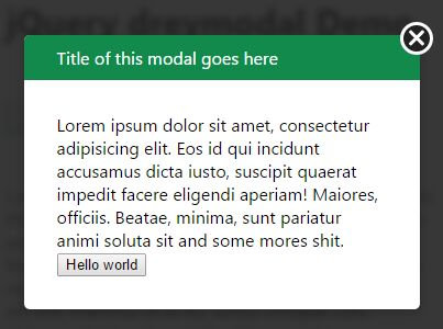 Animated jQuery Modal Plugin With Blurred Overlay - dreymodal