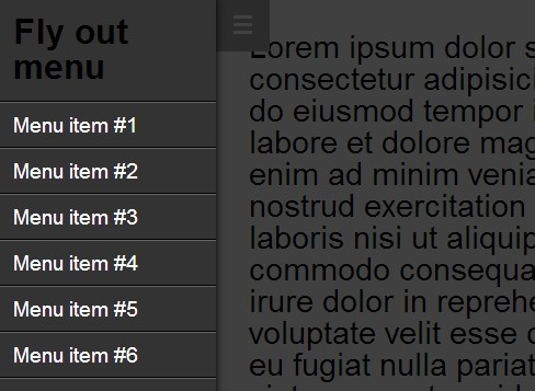 App Style Fly-out Navigation Menu Plugin For jQuery - iosmenu