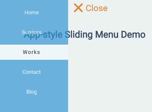 App-style Sliding Menu with jQuery and CSS3