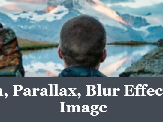 Apply Parallax & Zoom Effects To Images On Scroll Using jQuery