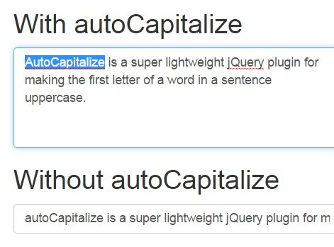 Auto Capitalize Sentences with jQuery autoCapitalize Plugin