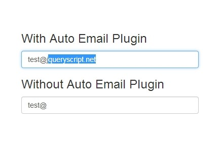 Auto-Complete Email Addresses with jQuery Auto Email Plugin