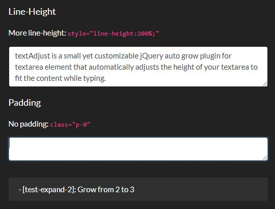 Auto Grow Textarea Vertically To Fit Content - textAdjust