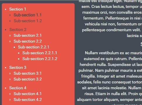 Automatic Table Of Contents Plugin with jQuery - sdscrollmenu